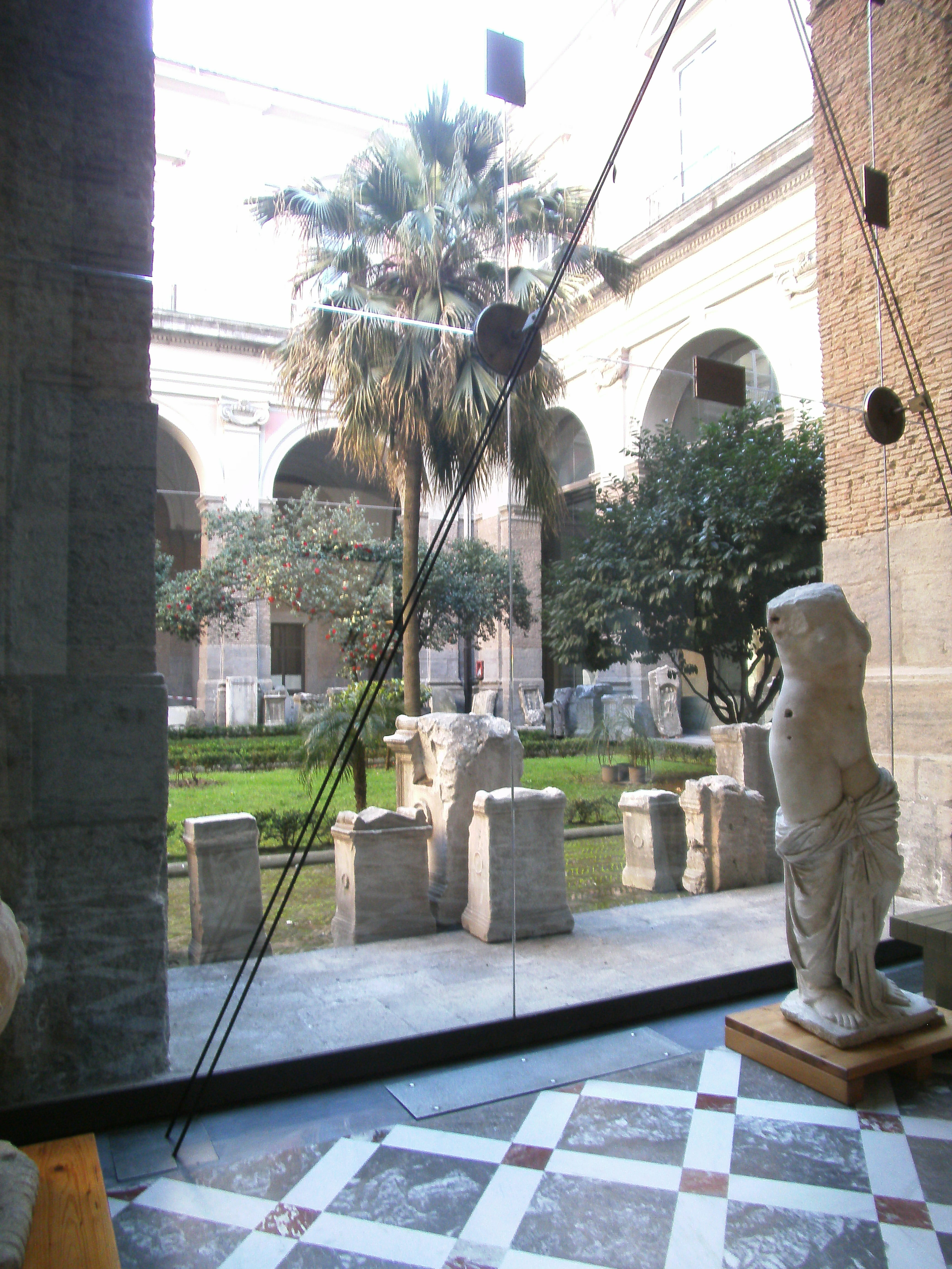 Patio at Museo Archeologico Nationale, Naples