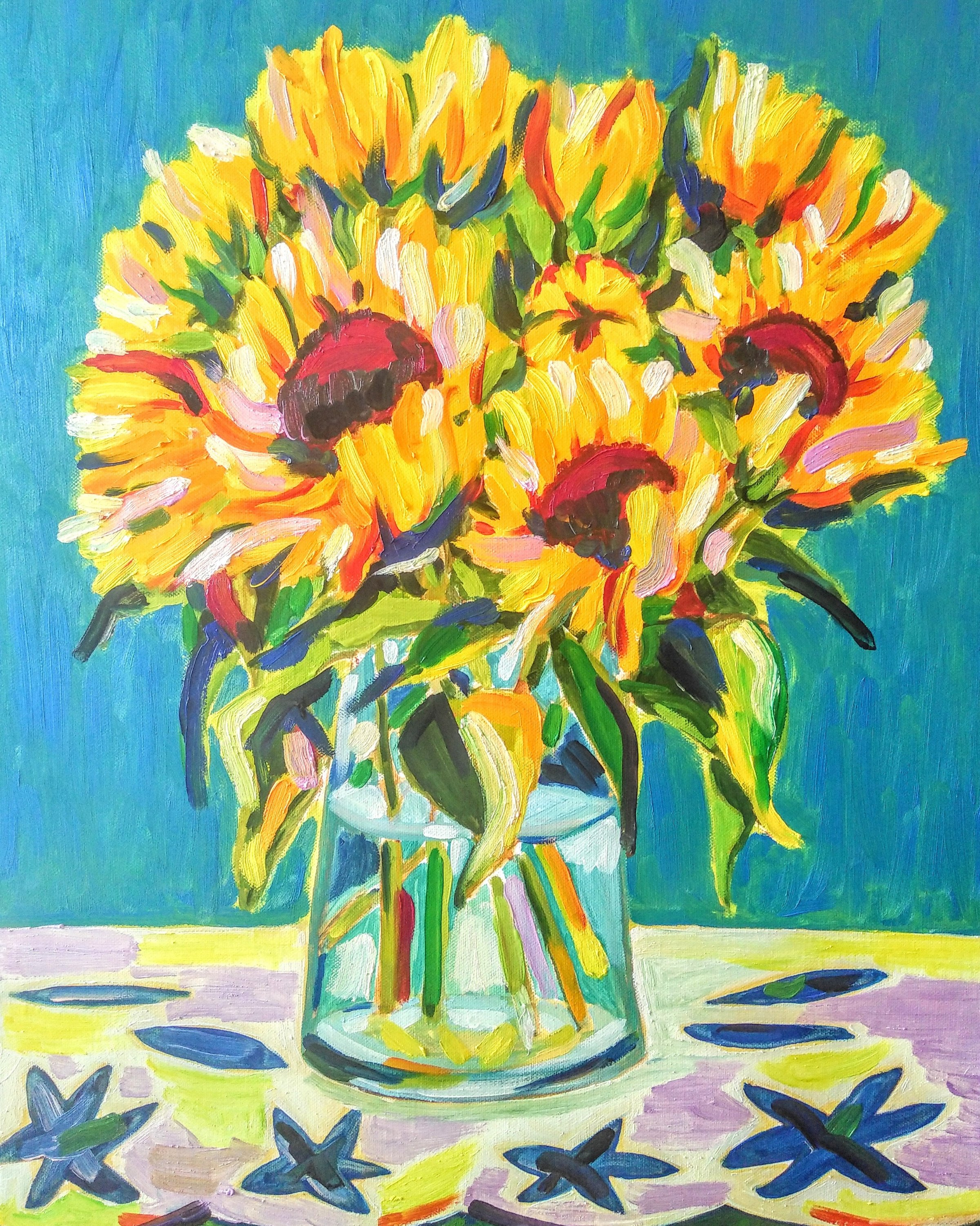 Sunflowers Tamara Jare contemporary painting