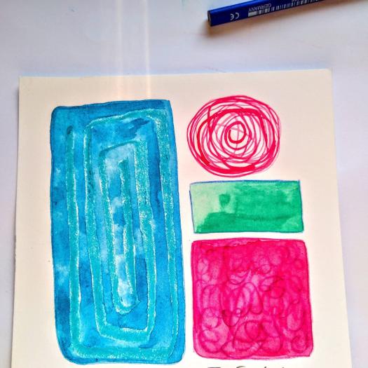 Tamara Jare contemporary painting abstract colorful
