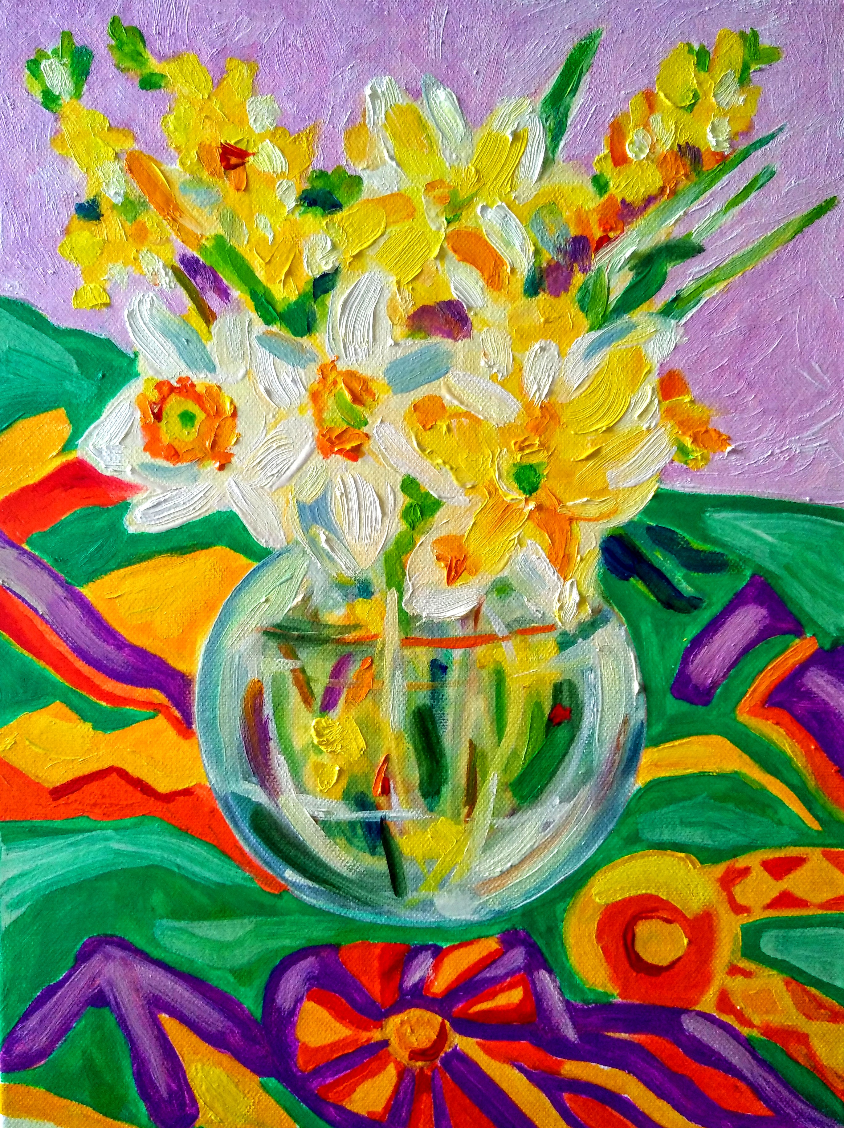Tamara Jare contemporary painting Daffodils