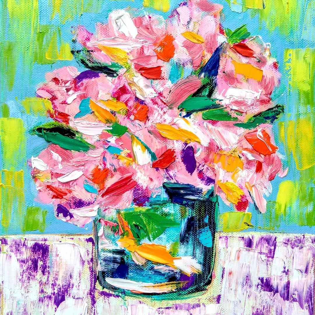 Roses Tamara Jare painting