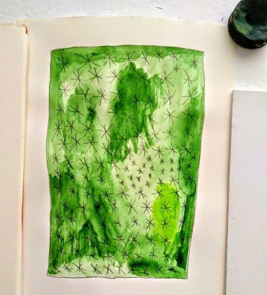 Vegetable garden Tamara Jare contemporary painting series