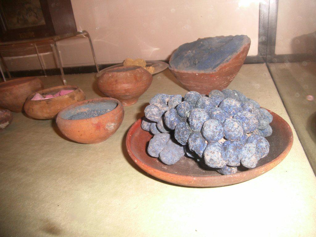 petrified grapes from Pompei roman archeological museum Napoli Italy photo Slovenian artist Tamara Jare